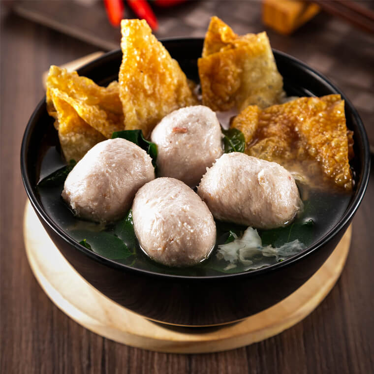 MEAT BALL FU ZHU SOUP